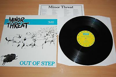 "MINOR THREAT Out Of Step SUPER-RARE $8 BLUE-BREEN US 12"" NR MINT WITH INSERT"