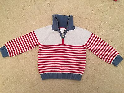 The Little White Company Boys Jumper Size 12-18 months
