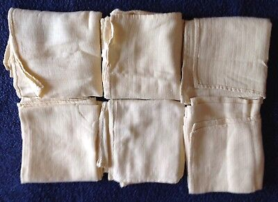 6 x Mothercare Muslin Squares, 60 x 60 cm