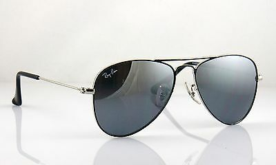 Ray Ban Junior Aviator RJ9506S 219/6T Chrome Frame & Silver Mirror Lens 100% UV