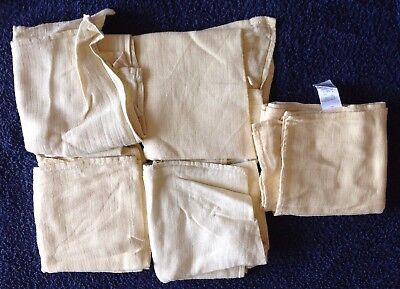 5 x Mothercare Muslin Squares, 60 x 60 cm