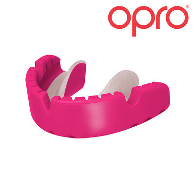 OPRO Braces Fit Mouth Guard Gum Shield - Fits Over Braces For Rugby, Boxing