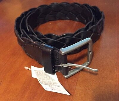 NWT men's braided belt in black from GAP size 36 NEW