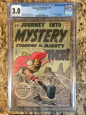 Journey into Mystery #86 (Nov 1962, Marvel) CGC 3.0