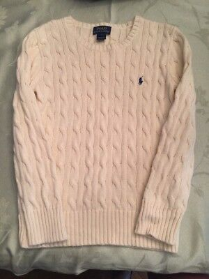 Polo Ralph Lauren Ivory Knit Sweater Size 7