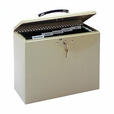 MMF Industries Steel Security File Box with Key Lock 227109003
