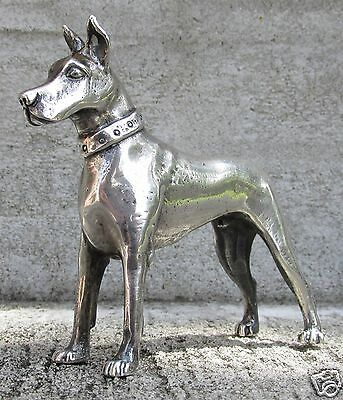 "S. KIRK & SON SOLID CAST STERLING MINIATURE ""GREAT DANE""  4.38 Troy oz."