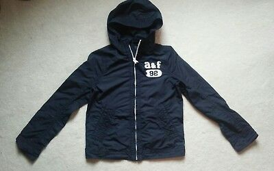 Abercrombie & Fitch Kids Boys Youth Light Wind Breaker Navy Blue Jacket Size M