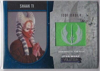 Star Wars 2016 Topps Evolution Commemorative Flag Patch Blue Shaak Ti 11/50