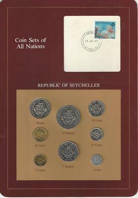 Coin Sets of All Nations - Seychelles, 8 coin set.