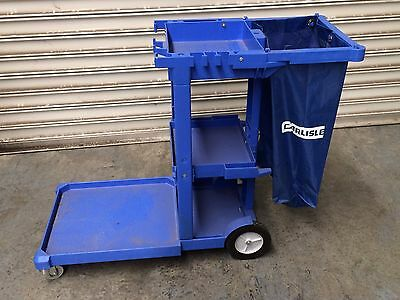 Heavy Duty Commercial Janitor Trolley, Cleaning Cart Inc Bag  Carlisle