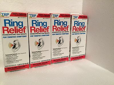(4) TRP RING RELIEF Ear Drops Tinnitus 0.5 oz Homeopathic Ear Ringing Lot of 4