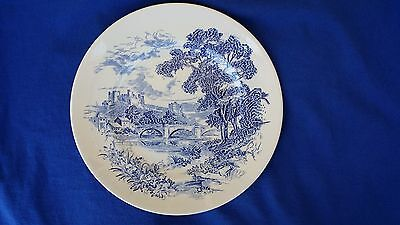 """Beautiful Enoch Wedgwood """"countryside"""" 10"""" Collector Plate Cobalt Blue And Nice"""