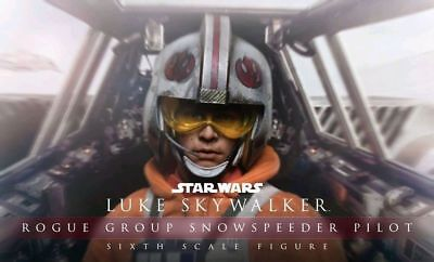 "Star Wars - Luke Skywalker Rogue Group Snowspeeder Pilot 12"" 1:6 Scale Action Fi"