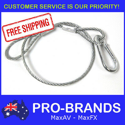 400mm Steel Wire Safety Security Snap Cable Stage Lighting Bar Light Hook Clamp