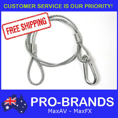 800mm Steel Wire Safety Security Snap Cable Stage Lighting Bar Light Hook Clamp