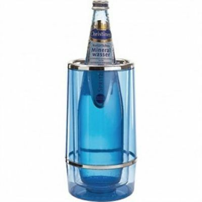 *LAST ONE* Invicta Gifts Wine Bottle Cooler - Blue Acrylic *Free post*