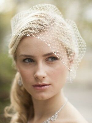 Wedding Bridal Birdcage Net Veils Charming Girls Prom Face Veil with Rhinestone