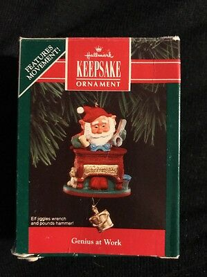 1992 Hallmark Ornament Genius At Work Santa