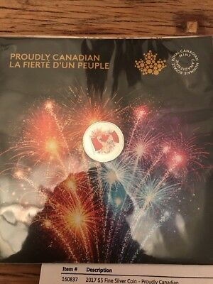 1867-2017 Canada 150 Glow-In-The-Dark Flag Proudly Canadian $5 Pure Silver Coin