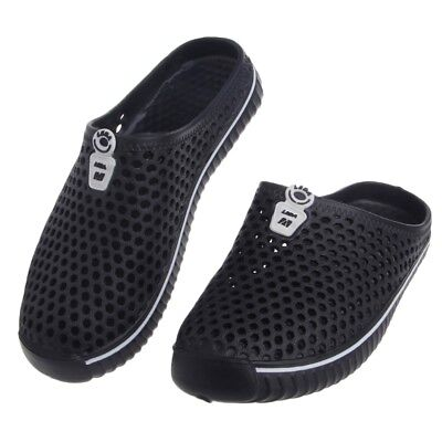 Summer Hollow Out Breathable Beach Shoes Black Outdoor Casual Men Mesh Slipper