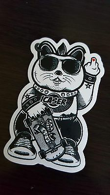 ICASER CAT sticker decal laptop car wall unused unstuck quality 8.5 X 5.5 cm