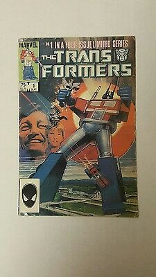 The Transformers #1 (1984, Marvel), G/VG, 1st appearance Transformers, 1st Print