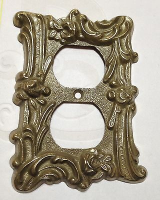Vintage Brass Outlet Cover Roses Victorian Shabby Cottage