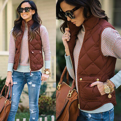 Womens Fashion Winter Warm Jacke Vest Coat Casual Jacket Waistcoat Outwear
