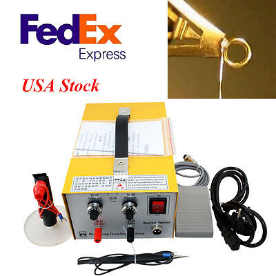 30A Pulse Sparkle Spot Welder 200W Jewelry Welding Machine Gold Silver Platinum
