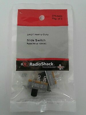 RadioShack DPDT Heavy Duty Slide Switch (2 Pack) 275-0403
