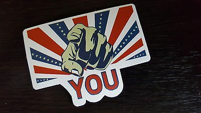 I WANT YOU sticker decal laptop car wall unused unstuck quality 7.5 X 6.5 cm
