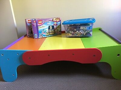 Children's Activity Table 3 In 1 Table And Stool - Lego, Drawing, Games