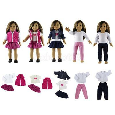 Clothes for 18 Inch American Girl Our Generation My Life Dolls Dress Skirt Tops