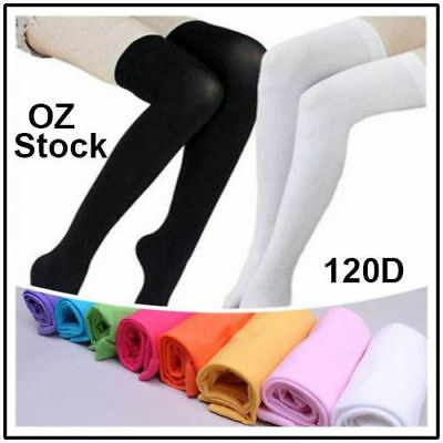 Over The Knee Socks Plain Rainbow Hight High Lady Students Socks Stockings