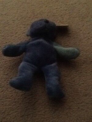 Skansen Beanie Kids  Tang the Blue tied Bear
