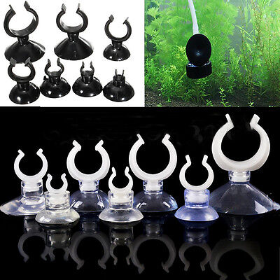 5* Aquarium Fish Tank Suction Cup Sucker Clip Holder Fr Air Line Tube Hose Pump