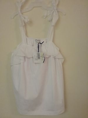 Piccola  Ludo Girls Italian Tank Top. Color: White. Size 4