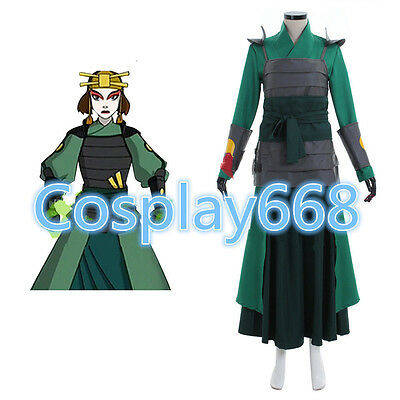 Custom made Avatar The Last Airbender Kyoshi Warriors Cosplay Costume AA.1719