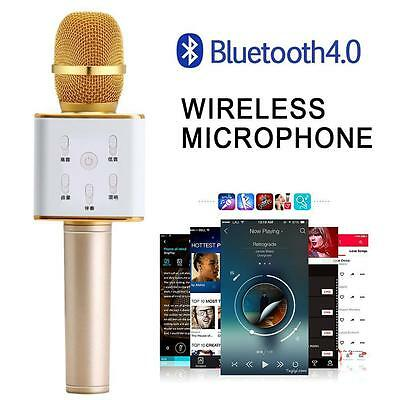 Q7 Wireless Bluetooth Handheled KTV Karaoke Microphone Speaker For iphone 6 7 AS