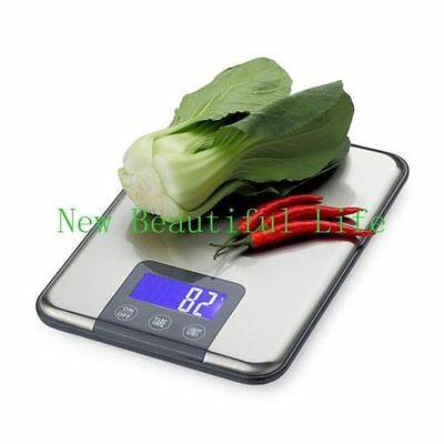 15KG 1g touch screen Digital Kitchen Scale  Weight Balance Slim Stainless Steel
