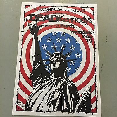 Dead Kennedys - Concert Poster Portland Monday 19Th November   (A3 Size)