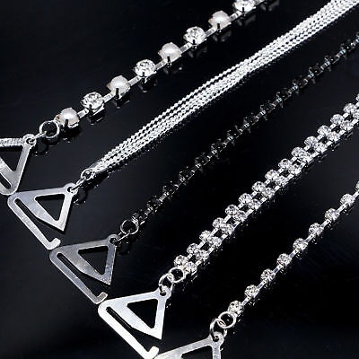 Adjustable Detachable Bra Straps Rhinestones Diamante Pearl Metal Invisible UK