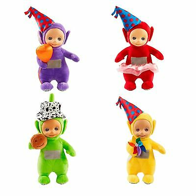 Party Teletubbies Talking Plush Soft Toy Tinky Winky Laa-Laa Po OR Dipsy NEW
