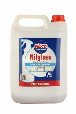 Nilco H3 Nilglass Glass Mirror Windscreen Cleaner Cleaning Solution 5 L