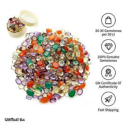 Mix Gemstones Natural Faceted Mixed Shapes Loose Gems Lot For Jewelry Making