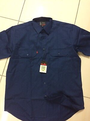 Navy Blue King Gee Work Shirt BNWT - Size M