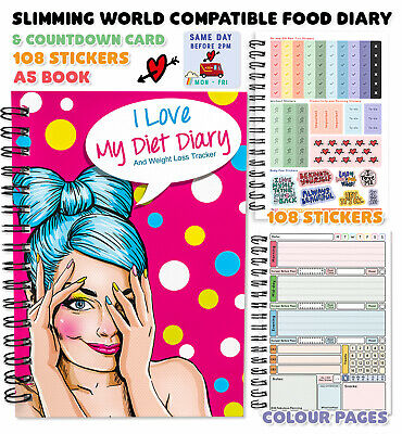 Food Diary Diet Journal Slimming World Compatible Weight Loss Personalised KCDQ