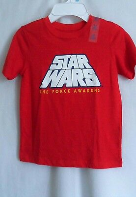Boys 2T 24 Months Red Star Wars The Force Awakens Shirt Nwt The Children's Place