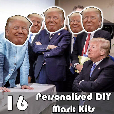 16 Pack Of Personalised Diy Face Mask Kits - Custom Party Masks To Make At Home